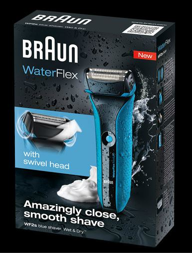 Braun Waterflex Blue box