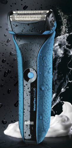 Braun Waterflex Blue wet and dry