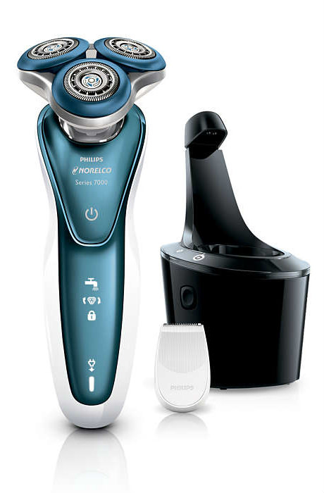 Philips Norelco 7300 Cleaning and Trimmer