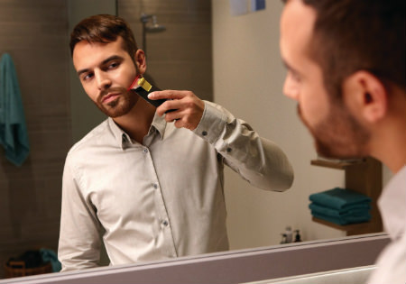 Philips Norelco Beard Trimmer 9100 unique laser