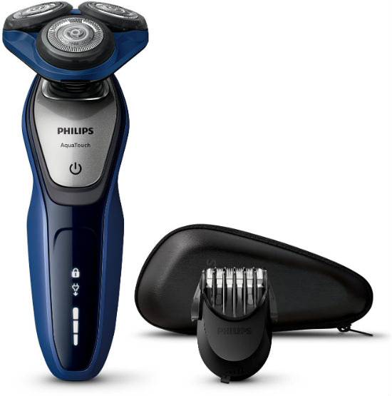 philips s5600 41 series 5000 aqua touch electric shaver with smart click beard trimmer best. Black Bedroom Furniture Sets. Home Design Ideas