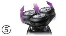 Philips Norelco Electric Shaver 5500 5-direction Flex Heads