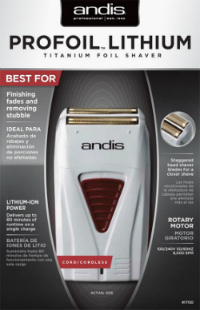 Andis LIGHTWEIGHT Cordless Mens Shaver Long Lasting Battery