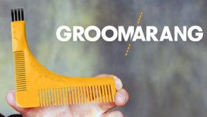 Groomarang Beard Styling and Shaping Template Comb Tool U-shaped