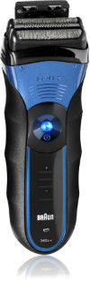 Braun 3 Series 340S-4 Wet & Dry Shaver Triple Action Cutting System