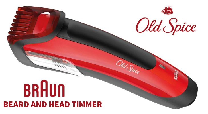 old spice beard head trimmer powered by braun best. Black Bedroom Furniture Sets. Home Design Ideas