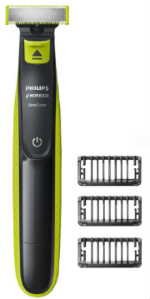 Philips Norelco OneBlade hybrid electric trimmer and shaver click on combs
